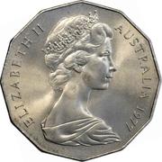 50 Cents - Elizabeth II (Silver Jubilee) -  obverse