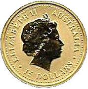 15 Dollars - Elizabeth II (Kangaroo) -  obverse