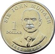 1 Dollar - Elizabeth II (Sir John Monash) -  reverse