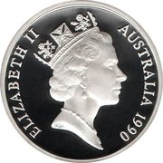 1 Dollar - Elizabeth II  (3rd Portrait - Masterpieces in Silver - International Year of Peace) – obverse