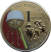 1 Dollar - Elizabeth II (The Magic Pudding) -  reverse