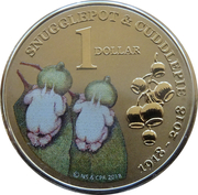 1 Dollar - Elizabeth II (4th Portrait - Snugglepot & Cuddlepie) -  reverse