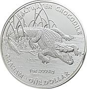 1 Dollar - Elizabeth II (Saltwater Crocodile - Graham) -  reverse