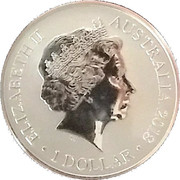 1 Dollar - Elizabeth II (4th Portrait - Sydney New Year's Eve) -  obverse