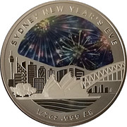 1 Dollar - Elizabeth II (4th Portrait - Sydney New Year's Eve) -  reverse