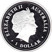 1 Dollar - Elizabeth II (4th Portrait - Discover Australia - Broome) -  obverse