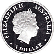 1 Dollar - Elizabeth II (4th Portrait - Discover Australia - Colourised Dolphin) – obverse