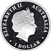 1 Dollar - Elizabeth II (Discover Australia - Dolphin) -  obverse