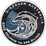 1 Dollar - Elizabeth II (Discover Australia - Dolphin) -  reverse