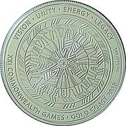 1 Dollar - Elizabeth II (XXI Commonwealth Games - A Legacy of Reconciliation) -  reverse