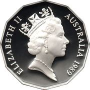 50 Cents - Elizabeth II (3rd Portrait - Masterpieces in Silver - Captain Cook) – obverse