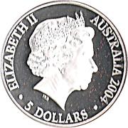 5 Dollars - Elizabeth II (Sydney to Athens 2004) -  obverse
