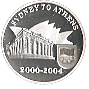5 Dollars - Elizabeth II (Sydney to Athens 2004) -  reverse