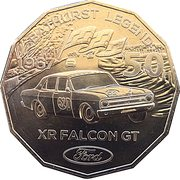 50 Cents - Elizabeth II (Ford High Octane - 1967 XR Falcon GT) -  reverse