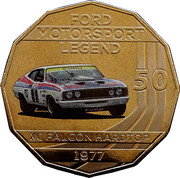 50 Cents - Elizabeth II (Ford High Octane - 1977 XC Falcon Hardtop) -  reverse