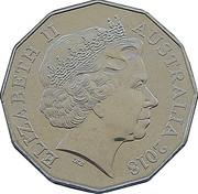 50 Cents - Elizabeth II (Ford High Octane - 2006 BA Falcon) -  obverse