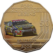 50 Cents - Elizabeth II (Ford High Octane - 2006 BA Falcon) -  reverse