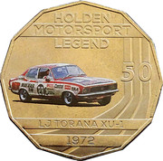50 Cents - Elizabeth II (Holden High Octane - 1972 LJ Torana XU-1) -  reverse