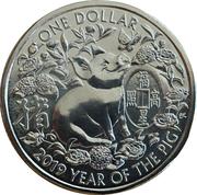 1 Dollar - Elizabeth II (Year of the Pig) -  reverse