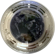 5 Dollars - Elizabeth II (4th Portrait - The Earth - Silver Domed) -  reverse