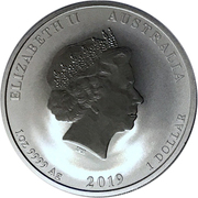 1 Dollar - Elizabeth II (4th Portrait - Year of the Pig) -  obverse