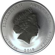 1 Dollar - Elizabeth II (Year of the Pig) -  obverse
