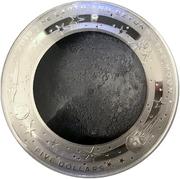 5 Dollars - Elizabeth II (4th Portrait - The Moon - Silver Domed) -  reverse