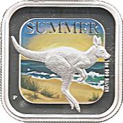 1 Dollar - Elizabeth II (Australian Seasons - Summer) -  reverse