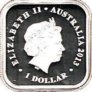 1 Dollar - Elizabeth II (4th Portrait - Australian Seasons - Autumn) -  obverse
