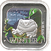1 Dollar - Elizabeth II (4th Portrait - Australian Seasons - Winter) -  reverse