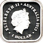 1 Dollar - Elizabeth II (Australian Seasons - Spring) – obverse