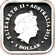 1 Dollar - Elizabeth II (4th Portrait - Australian Seasons - Winter) -  obverse