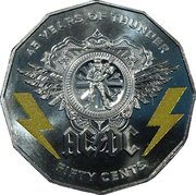 50 Cents - Elizabeth II (AC/DC 45 Years of Thunder) – reverse