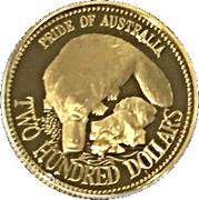 200 Dollars - Elizabeth II (Pride of Australia - Platypus) -  reverse