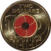 2 Dollars - Elizabeth II (4th Portrait - Remembrance-Armistice) -  reverse