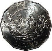 50 Cents - Elizabeth II (Anzac Spirit - Daring) -  reverse