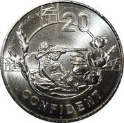 20 Cents - Elizabeth II (Anzac Spirit - Confident) -  reverse