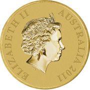 1 Dollar - Elizabeth II (4th Portrait - Australian Fossil Mammal Sites) -  obverse
