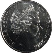 20 Cents - Elizabeth II (4th Portrait - Anzac Spirit - Decisive) -  obverse
