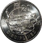 20 Cents - Elizabeth II (4th Portrait - Anzac Spirit - Disciplined) -  reverse