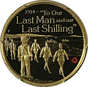 25 Dollars - Elizabeth II (To Our Last Man and our Last Schilling) -  reverse