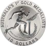 10 Dollars - Elizabeth II (Edwin Flack) -  reverse