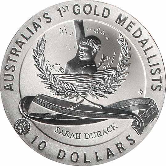 Australia 1996 $10 Silver 999 Coin Shirley Strickland  GREATEST OLYMPICS BU