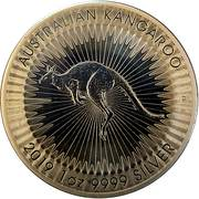 1 Dollar - Elizabeth II (6th Portrait - Australian Kangaroo) -  reverse