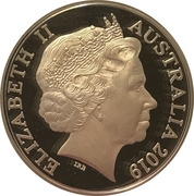 5 Dollars - Elizabeth II (4th Portrait - Year of the Pig - Silver Proof) -  obverse