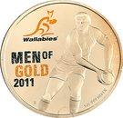 1 Dollar - Elizabeth II (Wallabies - Men of Gold) – reverse