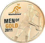 1 Dollar - Elizabeth II (Wallabies - Men of Gold) -  reverse