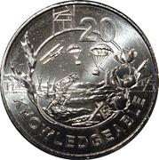 20 Cents - Elizabeth II (Anzac Spirit - Knowledgeable) -  reverse