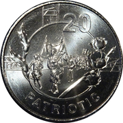20 Cents - Elizabeth II (Anzac Spirit - Patriotic) -  reverse