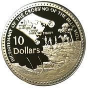 10 Dollars - Elizabeth II (4th Portrait - Blue Mountains Crossing - Silver Proof) -  reverse